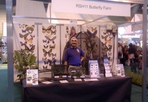 Promoting the Butterfly Farm at RHS Gardeners World Live 2011